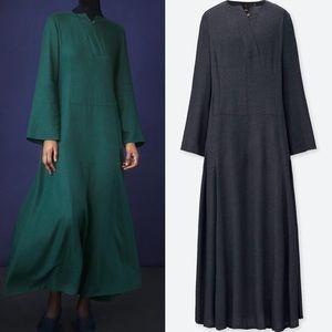 UNIQLO HANA TAJIMA LONG FLARE DRESS